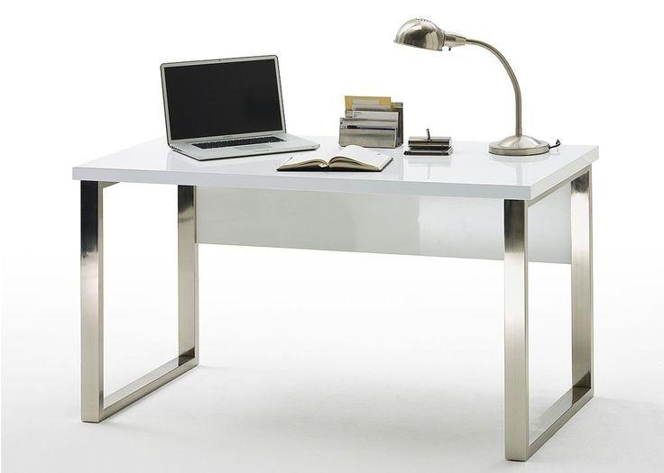 Design Schreibtisch Weiß Hochglanz lackiert 4272. Buy now at https://www.moebel-wohnbar.de/design-schreibtisch-weiss-hochglanz-lackiert-4272.html