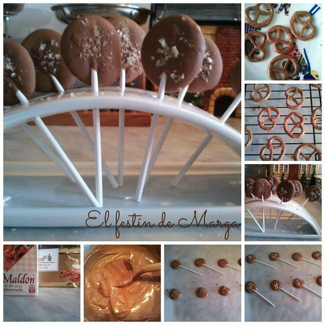 El festín de Marga: Piruletas de chocolate con leche y sal ahumada (y ...
