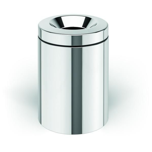 Bathroom Round Pedal Wastebasket W O Cover Made Of Stainless