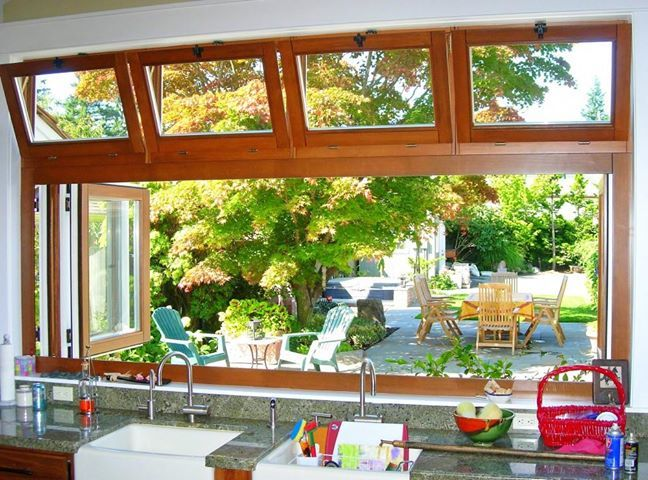 My future garden ;) And this clever window from MM Timber Windows! Have you seen anything like it?