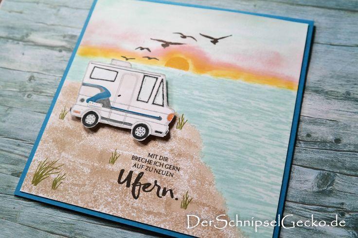 Stampin Up Lecker-Laster – Wohnmobil – Durch die Gezeiten – Strand – Sonnenunter…