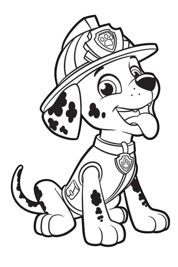 Marshall Paw Patrol Coloring Pages Paw Patrol Coloring Pages