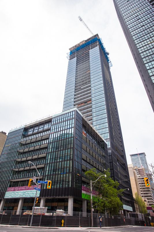 X2 Construction Tour (May 2014) -- at the corner of Charles and Jarvis Streets.