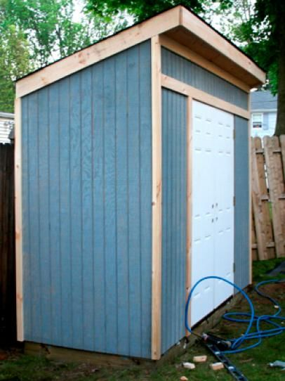 Create extra storage for outdoor gear with this simple shed design. Learn how on HGTV.com.