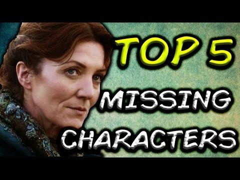 Oct 14, 2016 - Top 5 Book Characters Missing From Game Of Thrones! Previous Video - https://www.youtube.com/watch?v=zTENK... Faceless Man/ Maesters - https://www.youtube.com/watch?v=sMIZs... Who Is The Ghost Of High Heart? - https://www.youtube.com/watch?v=eoyda...