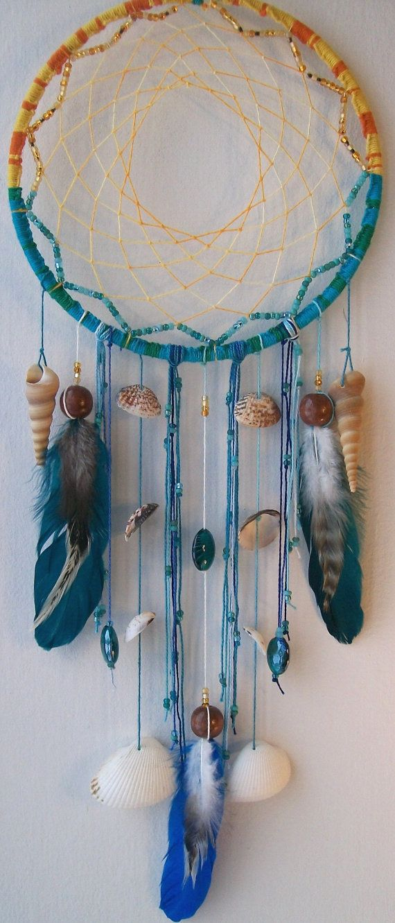 Sunset Reef Native Dream Catcher    $55.00 by FeelFreeArt (no Spaces) on etsy.com