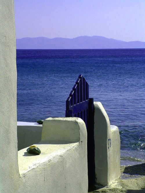 ysvoice: | ♕ | Gate to the Sea - Pyrgos, Tinos, Greece | by APXEIO