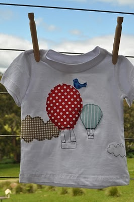 Balloon T-shirt: Great way to hide stains! #Embellish