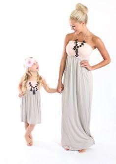 Mother daughter maxi dress