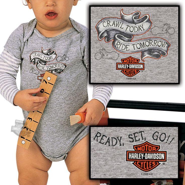 R202781068 - Harley-Davidson® Boys Baby Crawl Today 2-Fer Grey Romper - Barnett Harley-Davidson®
