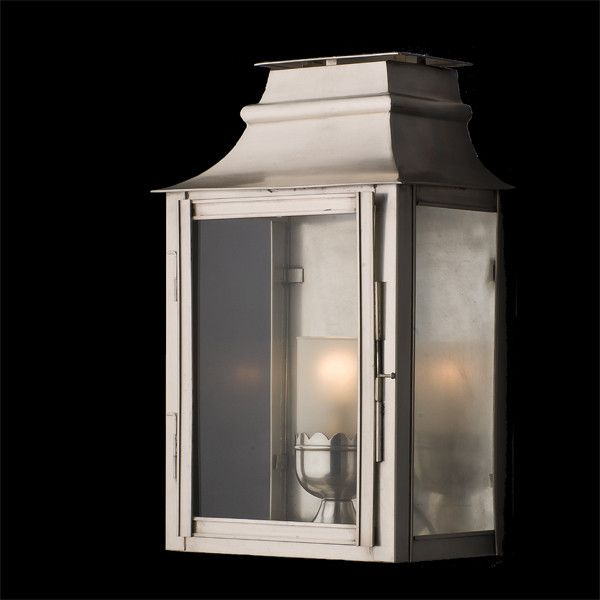 Available in Black and Antique Silver, this wall lantern is simple and smart for those looking for something traditional without too much detailing.    Dimensions H: 450mm W: 270mm  P: 170mm  Finishes Antique Silver Black  Globe 240V Candle 1 x 40W (not included)