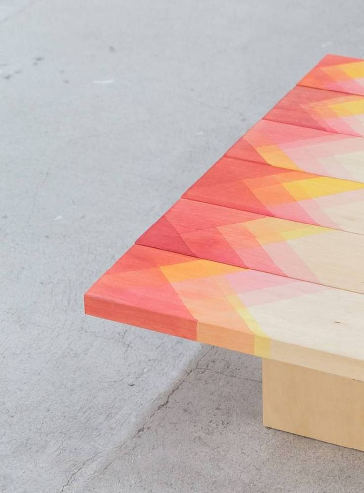 31 graphic design trends to try at home on domino.com   love these painted dip dyed geometric timber boards