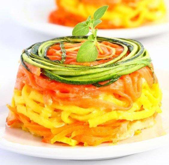 Per cucinare il <strong>timballo di verdure</strong> iniziate col lavate e spuntate le zucchine, pelate le carote e la patata, tagliate le verdure a julienne molto fine e conditele in una ciotola co...