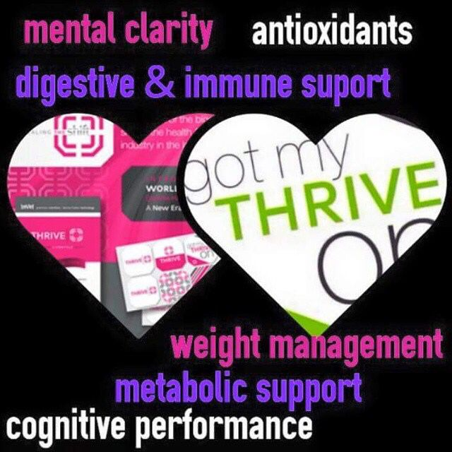 Thrive is all natural. You have to experience it to believe it! Message me for your new customer discount!