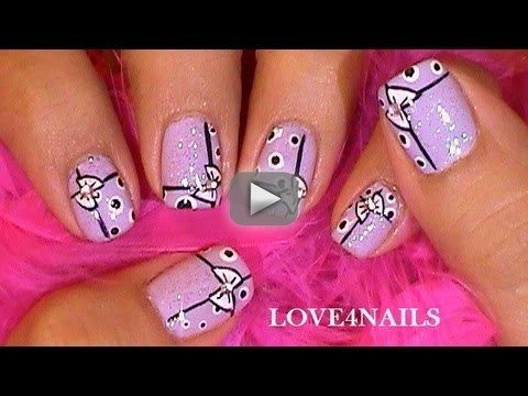"""Bow's """"n"""" Dots Lavender Short Nail Art Design Tutorial - Spanish Channel Link :   Hello You Guys!!!  Happy Friday ~  I'm so happy to be back with nail art Friday. I missed having my nails with no art. The first 2 weeks I was having fun not having to worry about thinking up a design. This week I was so ready to start. I've also began missing my long nails. But I am excited about working on designs for short nails.  I hope you enjoy this manicure.  Have A Great Friday ~  Music by Dan-O at"""