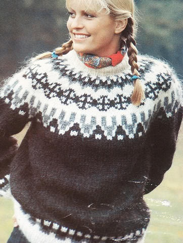 Scandinavian sweater - just another example of the kind of style for the inspiration