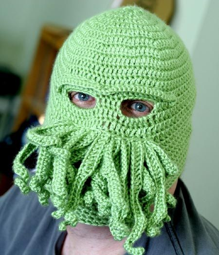 Terry?: Hats, Davis Jones, Faces Masks, Cold Day, Crochet Fish, Doctors Who, Skiing Masks, Cthulhu, Knits Projects