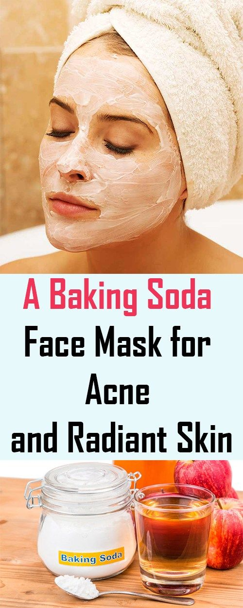 A Baking Soda Face Mask for Acne and Radiant Skin  #facemask #bakingsoda #acne #radiantskin #skincare #health beauty