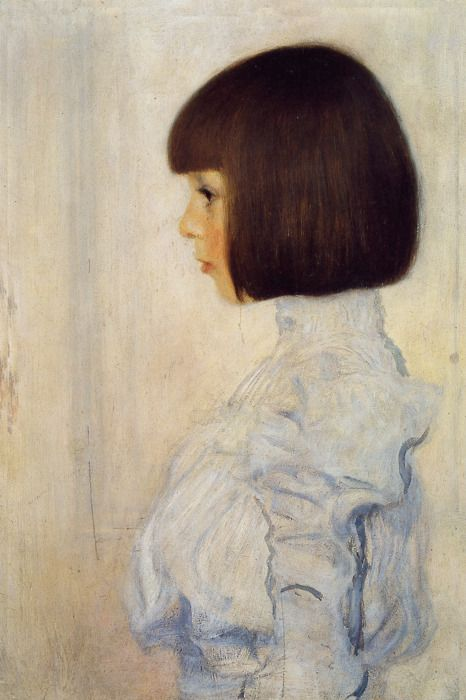 1898 Gustav Klimt (Austrian Art Nouveau, 1862-1918) ~ 'Portrait of Helene Klimt (niece)'