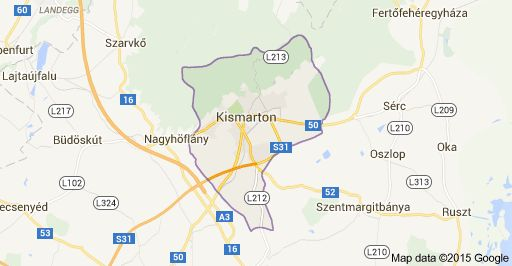 Map of Kismarton, Ausztria