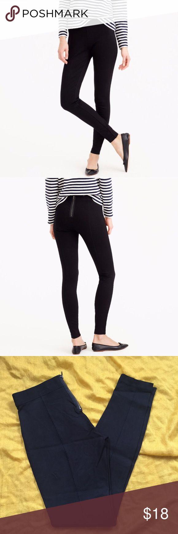 JCrew Petite Leggings JCrew Petite Leggings with zipper in the back. J. Crew Pants Leggings
