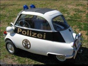 1957 BMW Isetta 300 Polizei Special  - http://sickestcars.com/2013/05/10/1957-bmw-isetta-300-polizei-special/