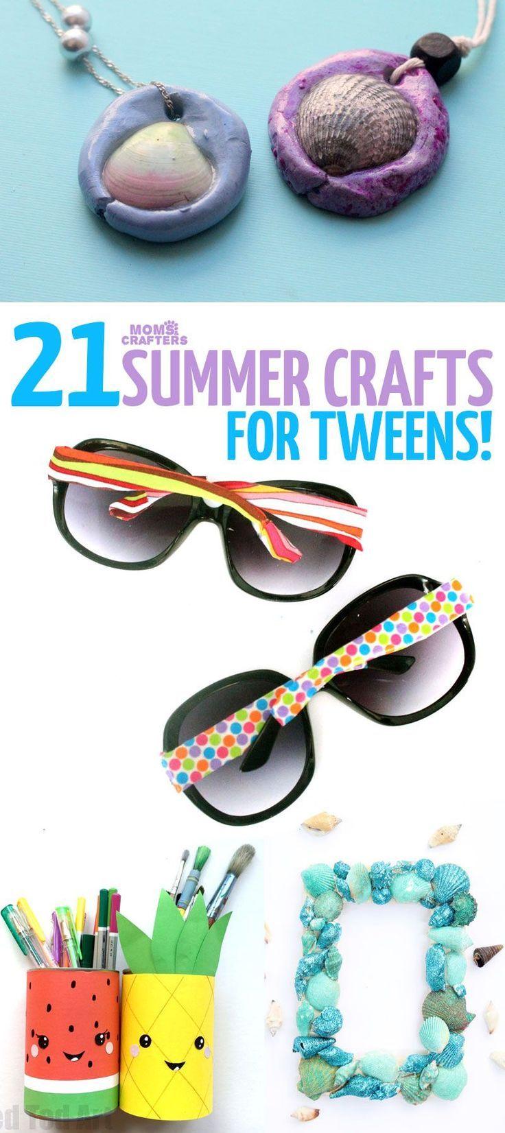 21 Summer Crafts For Tweens Seashellcrafts Forteens Genel