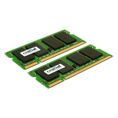 Consumer Electronic Products Crucial 4GB Kit (2GBx2) DDR2 800MHz (PC2-6400) CL6 SODIMM 200-Pin Notebook Memory Modules CT2KIT25664AC800 Supply Store Dual chip upgrade kit is ideal for systems that require dual channel memory configuration. Synchronous Dynamic RAM (SDRAM) delivers superior performance. 800MHz clockspeed. Easy installation.  #Electronics_Supply #PC_Accessory