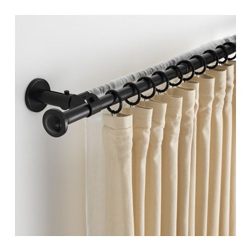 STORSLAGEN Double curtain rod set IKEA You can adjust the length of the curtain rods to fit your window.