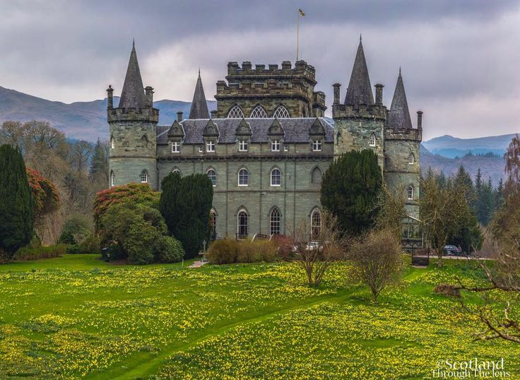 Invereray Castle in Argyll
