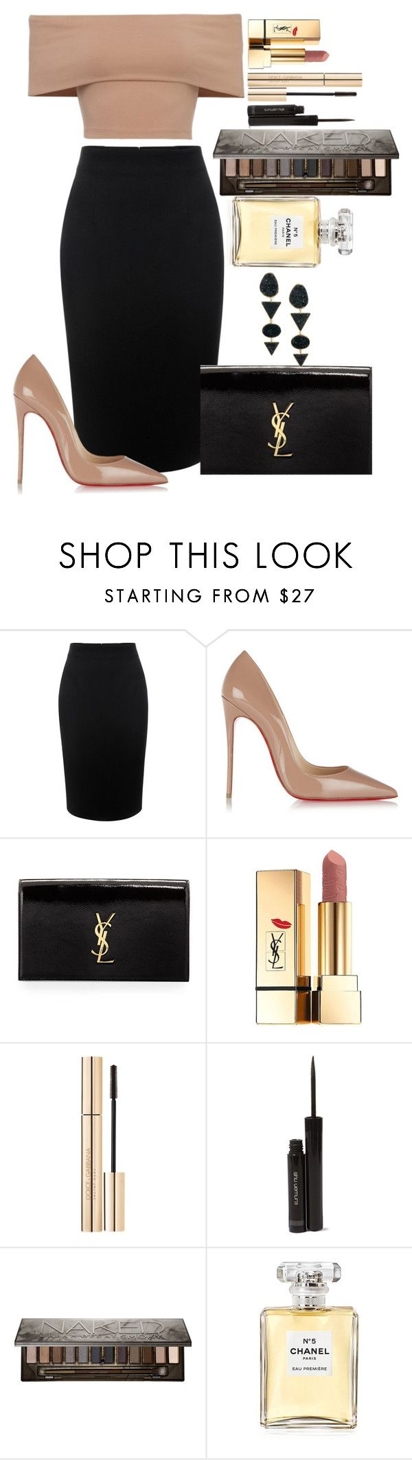 """Untitled #1276"" by fabianarveloc on Polyvore featuring Alexander McQueen, Christian Louboutin, Yves Saint Laurent, Dolce&Gabbana, shu uemura, Urban Decay, Chanel and H&M"