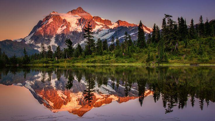 Jezioro, las iglasty, góra