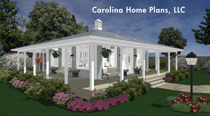 76 best house plans with porches images on pinterest 3d for Carolina cottage house plans