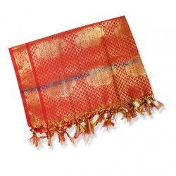 Designer shawl for women – maroon red