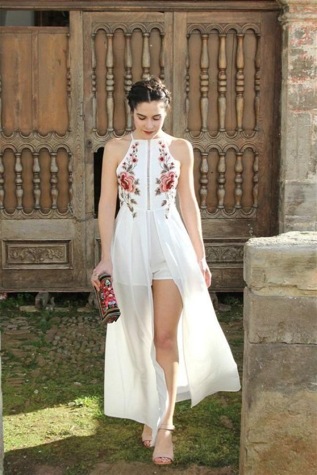 Look para vestido blanco