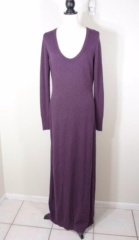 VICTORIA'S SECRET CASHMERE BLEND MAXI LONG SLEEVE DRESS L
