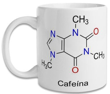 Caneca Molécula Cafeína