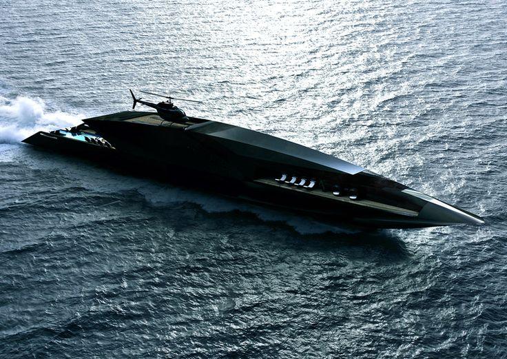 Amazing Yachts: Black Swan Superyacht concept designed by Timur Bozca