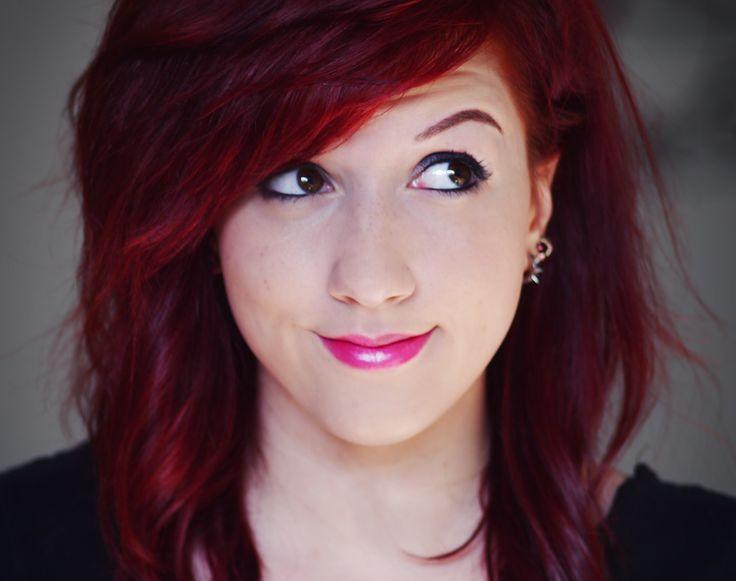 hair color used garnier r3 light intense auburn - Coloration Henn Rouge