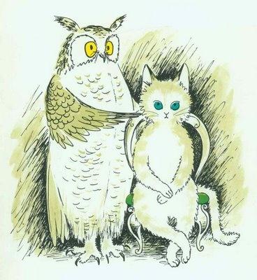 Cat owl poem pussy