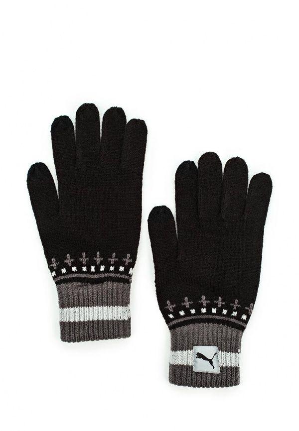 Перчатки Puma PUMA Home Knit Gloves Перчатки Puma. Цвет: черный.  Сезон: Осень-зима 2016/2017. Одежда, обувь и аксессуары/Мужская одежда/Перчатки