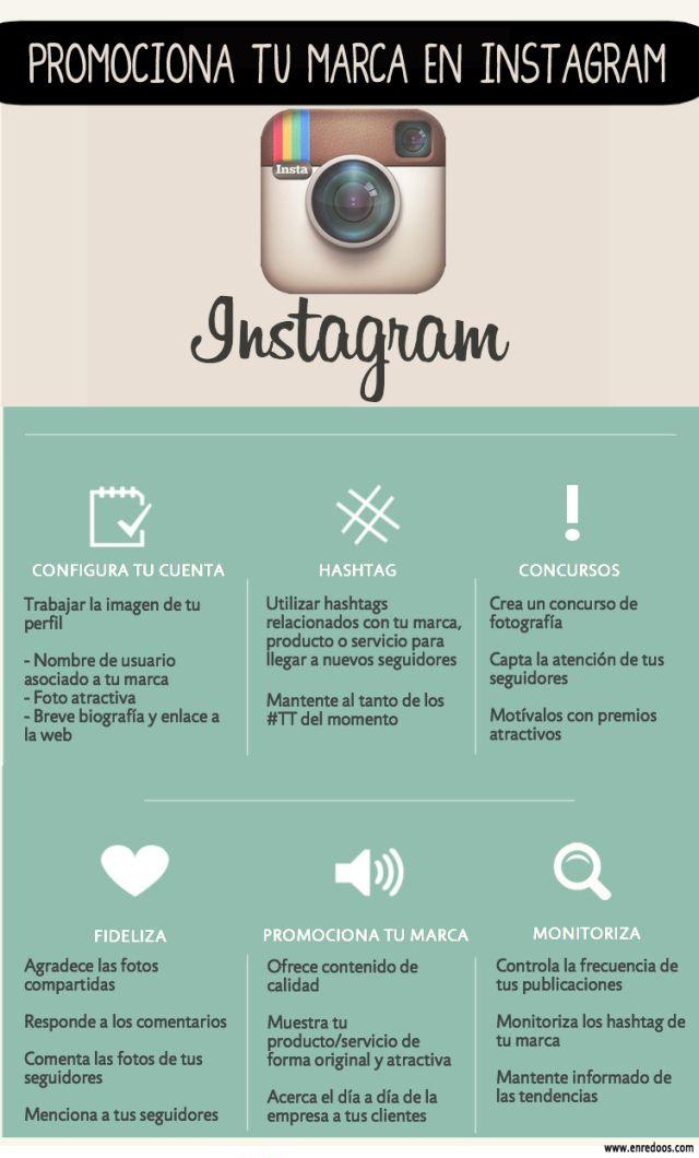 Promociona tu marca en Instagram #infoigrafia