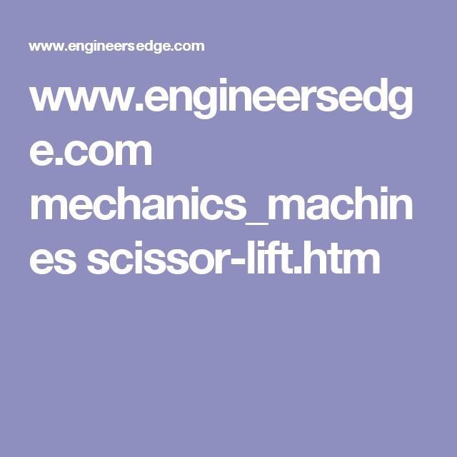 www.engineersedge.com mechanics_machines scissor-lift.htm