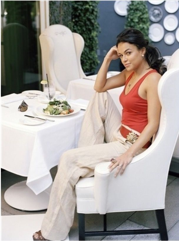 Michelle Rodriguez:Meal time