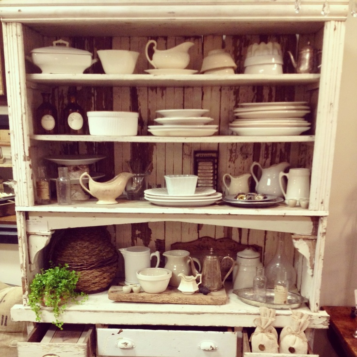 Beautiful White Farmhouse Cabinet From The 1800 S Available At A Mess Antiques