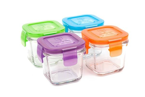 Glass Baby Food Storage Containers   4 Oz, BPA Free  Small Feeding Jars With
