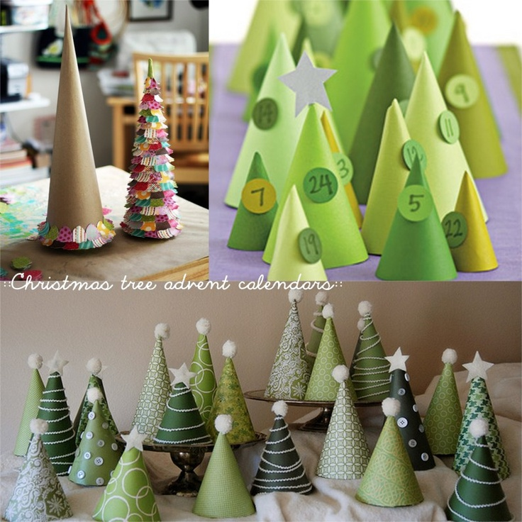 Tree advent calender(this is so perfectly adorable… Especially if you have a fireplace mantle)