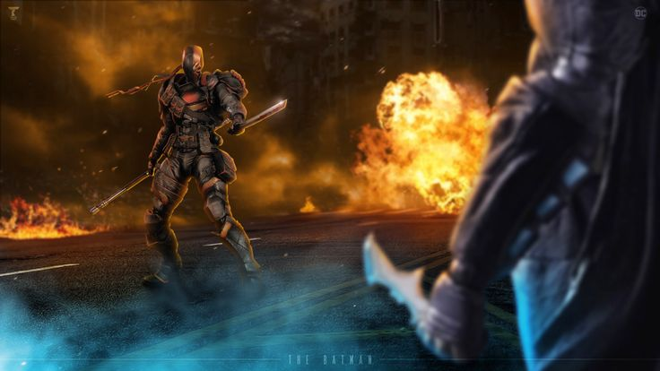 ArtStation - Deathstroke vs Batman, Talha Khan