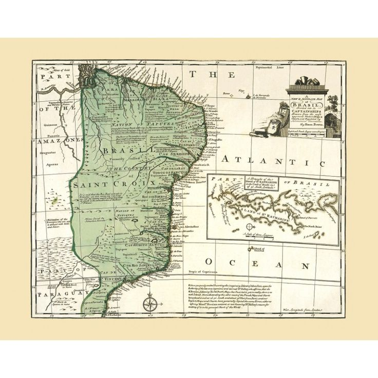 Vintage map of Brasil: wall art for interior design. Handmade paper print. #map, #antiquemap, #vintagemap, #oldmap #historicalmap, #mapreproduction #mapreproductions #oldmaps, #vintagemaps, #antiquemaps, #historicalmaps #handmadepaper #maps, #brasil #brazil, #mapdecor, #traveldecor #walldecor, #mapgifts
