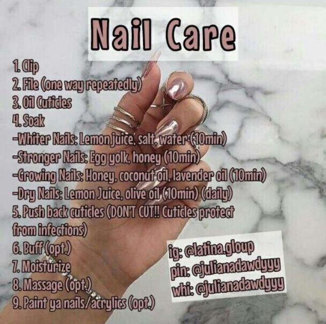 Pin By Sasha Douglas On Healthy How To Grow Nails Nail Care Diy Nail Care Routine